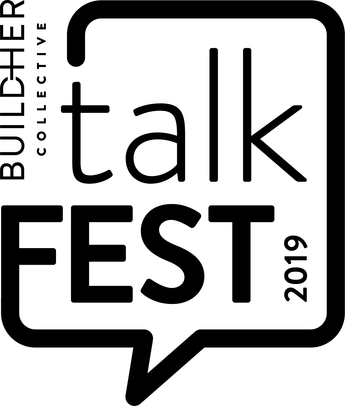 talkFEST Logo FINAL BW