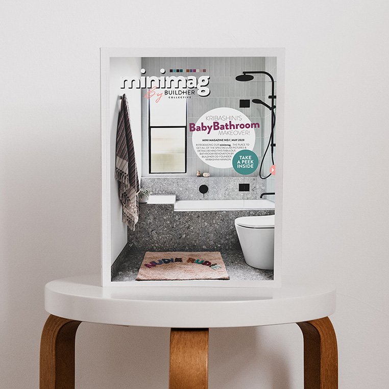 Mini Mag - Bathroom on Stool Square
